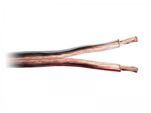 2,5 mm² Lautsprecherkabel Kabel transparent/rot