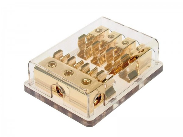 AGU Sicherungsverteilerblock vergoldet (30.3703-04)