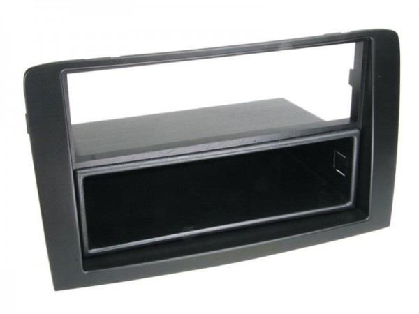 Doppel-DIN Radioblende schwarz mit Ablagefach Fiat Idea