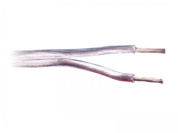 1,5 mm² Lautsprecherkabel Kabel transparent/blau